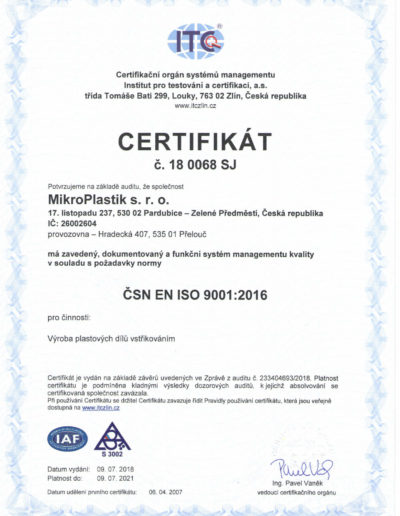 Certificate Mikroplastik - ISO